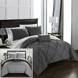 New Chic Home Designs 3 Piece Twin Bedding Comforter Set NWT Orig Price $105