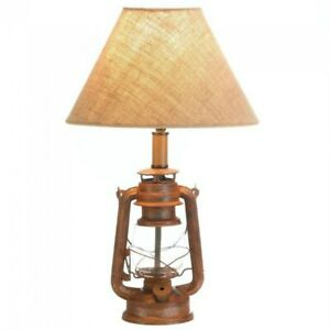 Camping Lantern Table Desk Lamp Light Vintage-Look Decorative Home Decor accent