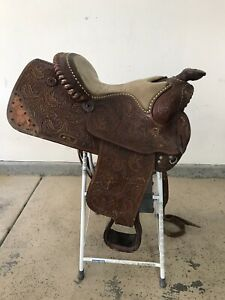 Vintage Victor Leather Goods Beautiful Show Saddle With Sterling