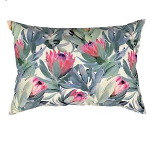 Tropical Flower Rectangular Pillow Cover Case Polyester 11 x 19 Protea Sugarbush $11.75