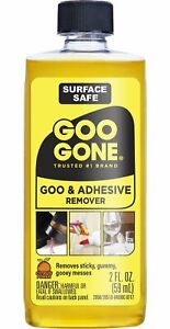 Goo Gone Original - 2 Oz  Surface Safe Adhesive Remover Safely Removes Stickers