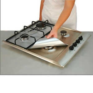 4pcs Universal Heavy Duty Gas Hob Protector Sheets Non-stick Oven liner For Home
