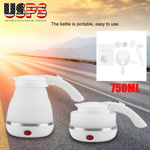 Portable Electric Foldable Kettle Collapsible Silicone Travel Water Boiler 750ML