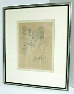 JOSEPH PENNELL quot;Fowery Ferryquot; Original Signed Lithograph 1897 Whistler#x27;s Friend $129.50