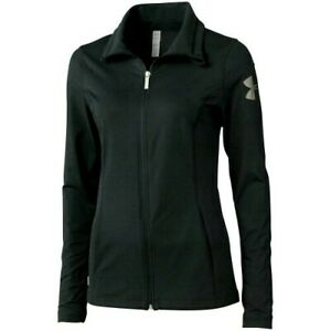 NWOT WOMENS SMALL BLACK UA UNDER ARMOUR PERFECT TEAM FULL ZIP JACKET 1247794 $29.95