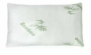 Bamboo Pillow Memory Foam Queen-King Stay Cool Removable Cover with Zipper