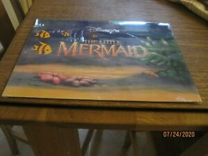 Sealed THE LITTLE MERMAID  Disney Store 4 piece Lithograph Set   11