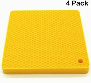 Lucky Plus Silicone Hot Pads for Cooking, Dish, Pan and Pot, Heat Resistant