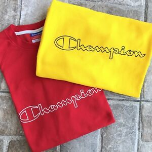 Vintage 90's Champion Shirts Set 2 Red Yellow Athletic Jersey XL $29.00