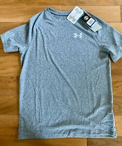 Boys Under Xl Short Sleeve Shirt Blue Grey NWT $9.00