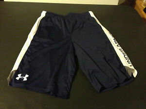 Under Armour Boy Youth Running Athletic Shorts Size YLG Blue White $4.99