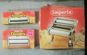 IMPERIA PASTA MAKER Plus 2 Attachments Stainless Steel Made In Italy SP 150 *