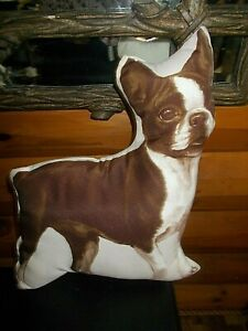Animal Throw Pillow French Bulldog Preowned but nice Couch chair bed 16quot;