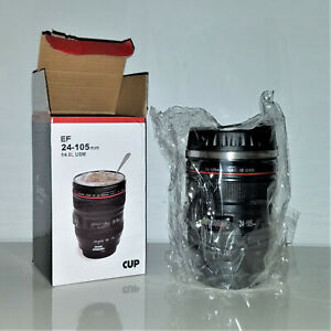 *BOGO* Camera Lens Coffee Mug Cup Travel Lid Photo DSLR Stainless Steel Thermos