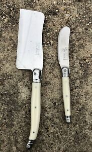 LAGUIOLE Jean Dubost White Handle Butter Cheese Knife Set Knives Spreader Frwnce