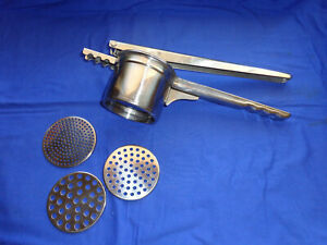 Cuisipro Potato Ricer Masher Vegetable Presse Stainless Steel 3 Discs Browne