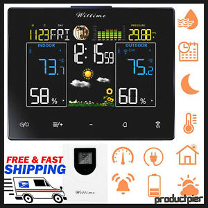Best Digital Wireless Color Weather Forecast Station Indoor Outdoor Thermometer