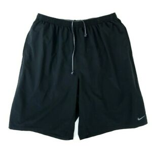 Mens NIKE Black Running Fit Dry Lined Training Run Shorts Size L $19.95