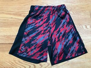 Boy's Under Armour Red Black Boy's Active Shorts sz 7 8 Youth Small $4.75