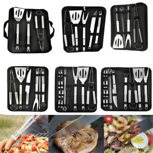 Grill Picnic BBQ Tool Set Utensil Accessories Cooking Kit Stainless Steel