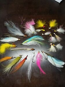 Twenty One(21) Fly Fishing Lures for Salmon Pike Bass Other big game Fish