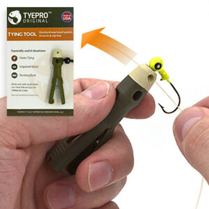 TYEPRO Fishing Line Knot Tying Tool Clinch Palomar Lure Tackle Hooks Cutter