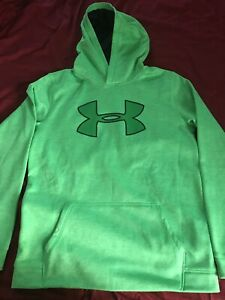 Like New Under Armour Boys' Armour Fleece Embossed Hoodie Green Youth XL YXL $9.00
