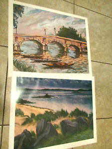 Laurent Salinas The Parks and Beach scene Lithograph Print Lot $39.00