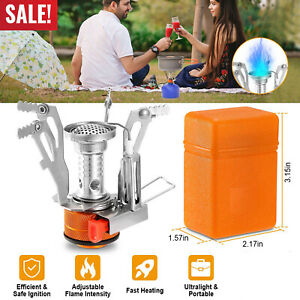 Portable Camping Stoves Backpacking Stove with Piezo Ignition Adjustable Valve