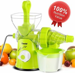 Manual Juicer Hand Slow Juicer Machine Press Squeeze for Vegetables and Fruits