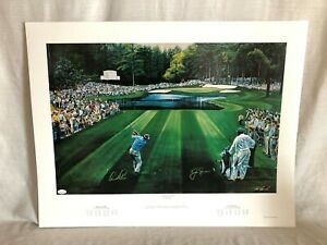 Arnold Palmer Signed Autoprahed Sunday In Augusta Ted Hamlin Golf Lithograph JSA $599.95