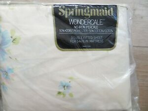 Vintage Springmaid Double Bed Fitted Sheet New in Package PERCALE