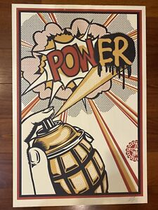 POW(ER) : SIGNED LITHOGRAPH : OBEY GIANT : SHEPARD FAIREY  $50.00