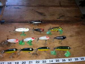 Heddon Tiny Torpedo & Baby Torpedo Topwater Fishing Lures Tough Colors 12