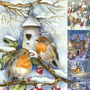 Christmas Scenery Animal 5D Diamond Painting Cross Art Crafts Hanging Home Decor