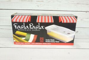 Fasta Pasta Microwave Cooker and Strainer Made in USA Dishwasher Safe Top Rack