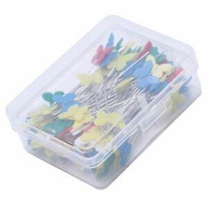 100pcs set Patchwork Pins Flower Button Head Pins DIY Quilting Tool Sewing T4R9 $5.98