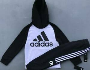 BOY'S SIZE SMALL 7 8 FALL WINTER LOT ADIDAS HOODIE & PANTS OUTFIT NWT $42.88