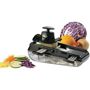 Starfrit Easy Mandoline w/ 4 Blades slicer grater julienne & shredder Manual NEW