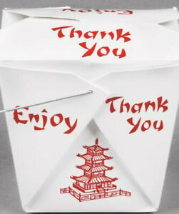 Pack of 30 Chinese Take Out Boxes Pagoda 16 oz/Pint Size Party Favor and Food...
