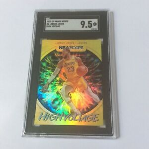 2019 20 PANINI HOOPS LEBRON JAMES HIGH VOLTAGE SGC 9.5 MINT LAKERS