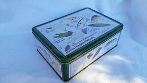 JAMES HEDDON amp; SONS METAL TRINKET CAN WITH FISHING LURE ART