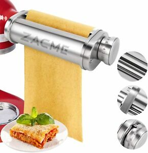 Pasta Noodle Maker Attachment Roller for KitchenAid Stand Mixers Stainless Steel