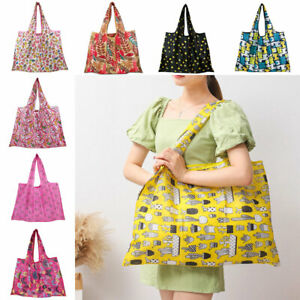 Large Size Foldable Shopping Bag Recyclable Reusable Eco Grocery Tote Bag Pouch