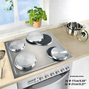 ANMASHOME 4 Stainless Steel Cooktops Stove Covers Kitchen Hob Protector Set $22.99