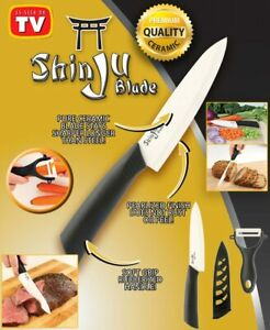 Shinju Blade Ceramic Chefs Knife and Bonus Peeler Set As Seen on TV