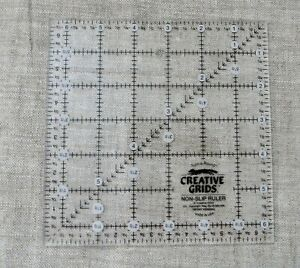 Creative Grids 5 1 2 Inch Square Up Ruler CGR5 CLEAR LINES $12.99