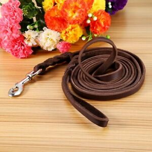 Pets Dogs Training Leash Durable Leather Dogs Leash Clip Pets Leads Strap Soft