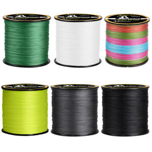 300 500 1000M Strong PE Braided Line Fishing 4 8 Strands Freshwater amp; Saltwater