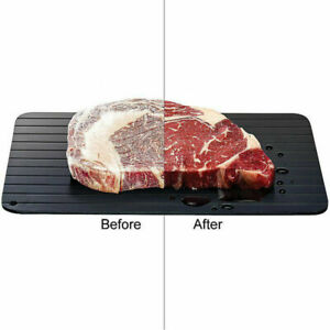L Size Fast Defrosting Tray Meat Thaw Rapid Safety Thawing Frozen Food Defrost
